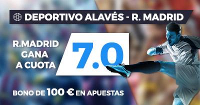 Megacuota Liga Santander: Deportivo Alavés – Real Madrid CF